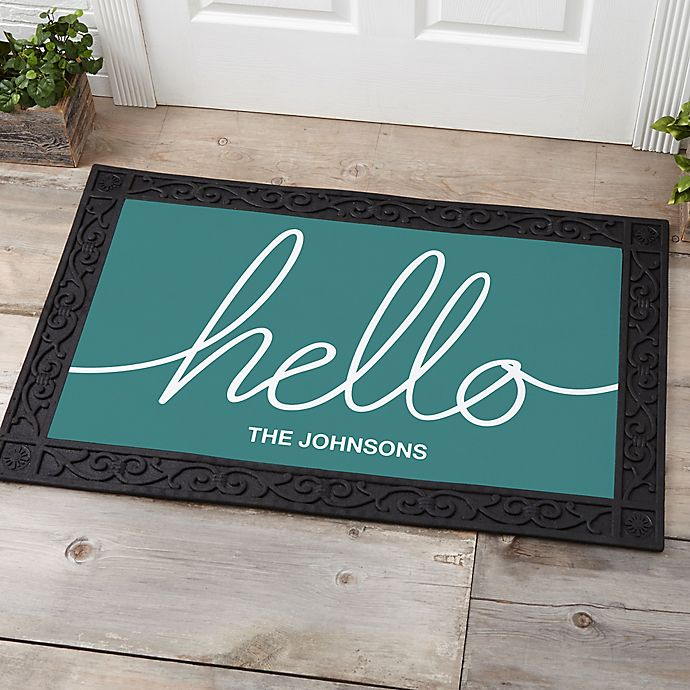 Alternate image 1 for Hello & Welcome Personalized Doormat