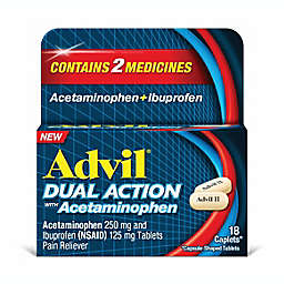 Advil® Dual Action with 250 mg Acetaminophen + 125 mg Ibuprofen 18-Count Caplets