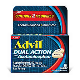 Advil® Dual Action with 250 mg Acetaminophen + 125 mg Ibuprofen 36-Count Caplets