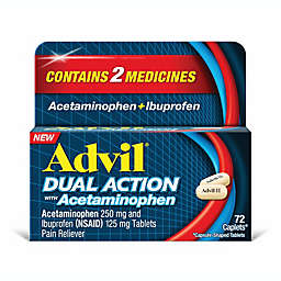 Advil® Dual Action with 250 mg Acetaminophen + 125 mg Ibuprofen 72-Count Caplets