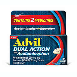 Advil® Dual Action with 250 mg Acetaminophen + 125 mg Ibuprofen 144-Count Caplets