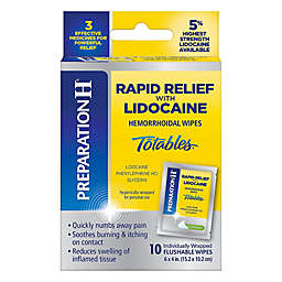 Preparation H® Totables 10-Count Rapid Relief Hemorrhoidal Wipes with Lidocaine