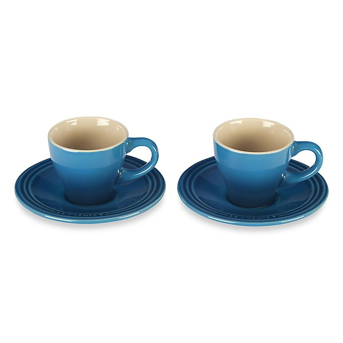 Alternate image 1 for Le Creuset® Espresso Cups and Saucers