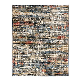 Theory Blues Hand Knotted Multicolor Rug in Blue