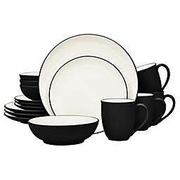 Noritake® Colorwave Coupe 16-Piece Dinnerware Set in Graphite