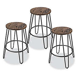 Outstanding 3 Piece Set Bar Stools Counter Stools Bed Bath Beyond Gamerscity Chair Design For Home Gamerscityorg
