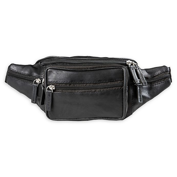 Alternate image 1 for CHAMPS Fire Leather Waistpack in Black