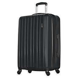 "Olympia® USA Raven 25"" Expandable Spinner Checked Luggage in Black"