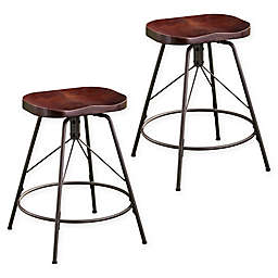 Southern Enterprises© Rampone Backless Counter Stools (Set of 2)