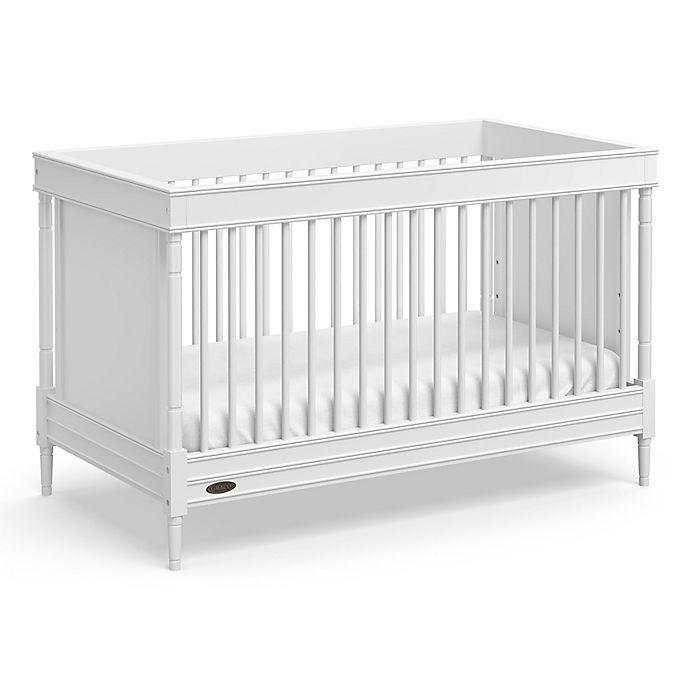 Alternate image 1 for Graco® Ashleigh 3-in-1 Convertible Crib in Pebble Grey