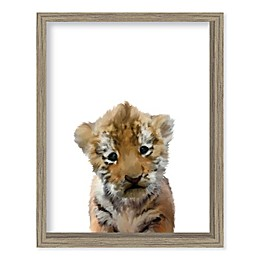 Boston Warehouse® Baby Tiger 12-Inch x 15-Inch Framed Wall Art