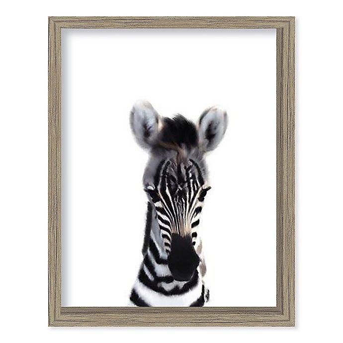 Alternate image 1 for Boston Warehouse® Baby Zebra 12-Inch x 15-Inch Framed Wall Art