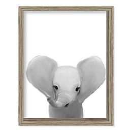 Boston Warehouse® Baby Elephant 15-Inch x 12-Inch Framed Wall Art