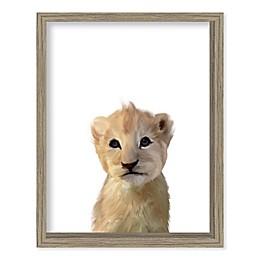 Boston Warehouse® Baby Lion15-Inch x 12-Inch Framed Wall Art