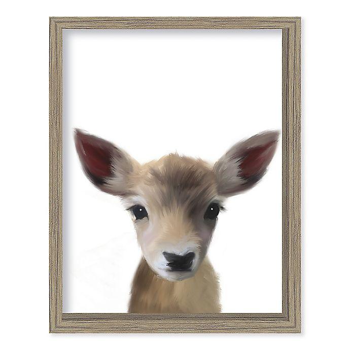Alternate image 1 for Boston Warehouse® Baby Deer 12-Inch x 15-Inch Framed Wall Art