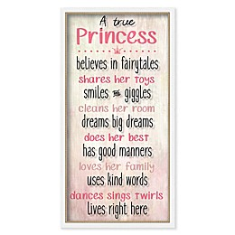 Boston Warehouse® 25-Inch x 13-Inch True Princess Canvas Wall Art