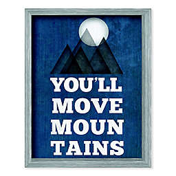 """Boston Warehouse® 15-Inch x 12-Inch """"You'll Move Mountains"""" Canvas Wall Art"""