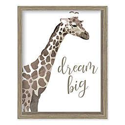 Boston Warehouse® 15-Inch x 12-Inch Dream Big Giraffe Canvas Wall Art