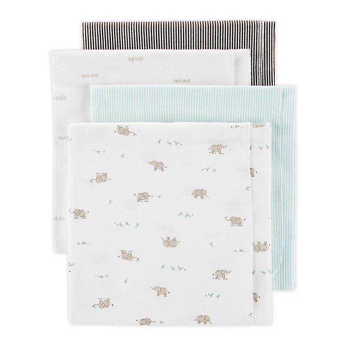 Alternate image 1 for carter's® 4-Pack Elephant Receiving Blankets