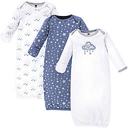 Hudson Baby® Size 0-6M 3-Pack Star Cloud Gowns