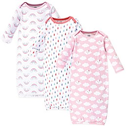 Luvable Friends® Size 0-6M 3-Pack Clouds Gowns in Pink