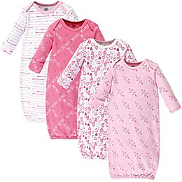 Luvable Friends® Size 0-6M 4-Pack Love Arrows Gowns in Pink