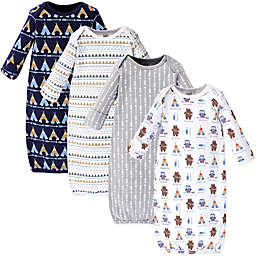 Luvable Friends® Size 0-6M 4-Pack Tribe Gowns in Blue
