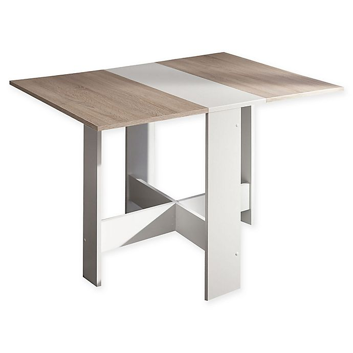 Alternate image 1 for Temahome® Papillon Foldable Dining Table in White/Natural Oak