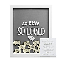 Pearhead® Little Elephant Shadow Box in White/Grey