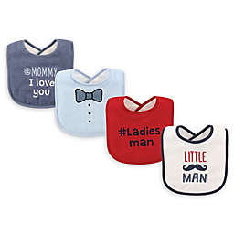 Luvable Friends® 4-Pack Drooler Bibs in Red