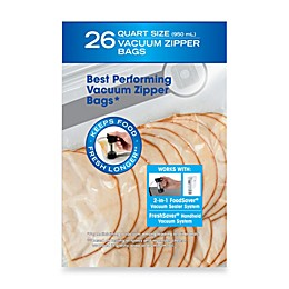 FoodSaver® FreshSaver® 26-Count qt. Size Vacuum Zipper Bags