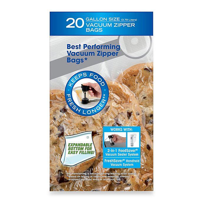 Foodsaver Freshsaver 20 Count Gallon Size Vacuum Zipper Bags Bed