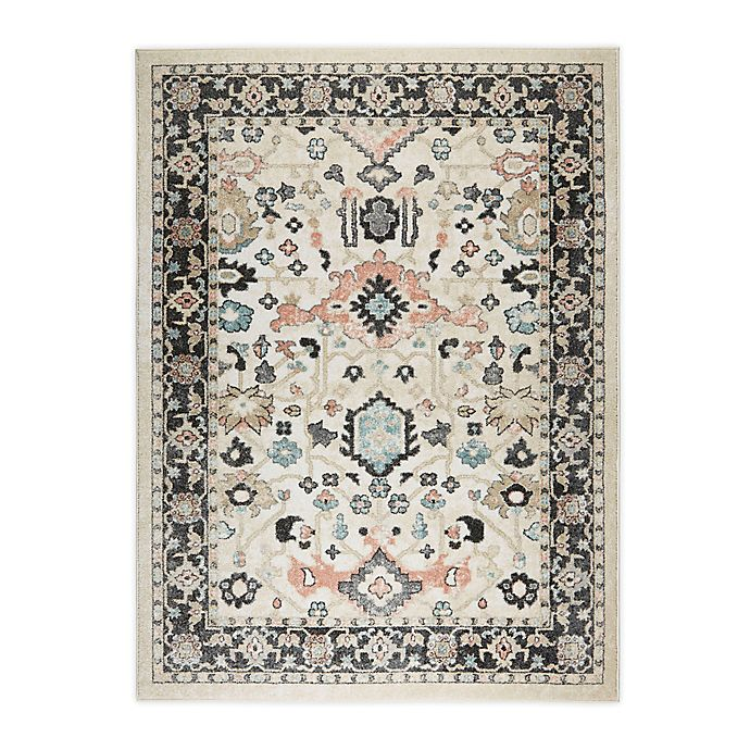 Alternate image 1 for Shabby Chic New Weave Paige 4' x 5' Area Rug in Ivory/Charcoal
