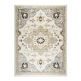 Shabby Chic New Weave Mariah 4' x 5' Area Rug in Ivory/Gray