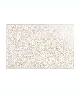 Home Dynamix Westwood Tapete decorativo con medallones florales, 50.03 x 80.01 cm en gris pardo