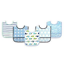 Luvable Friends® 5-Pack Turtles Bibs in Blue