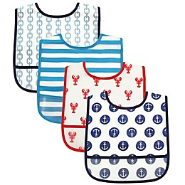 Luvable Friends® 4-Piece Bib Set in Blue