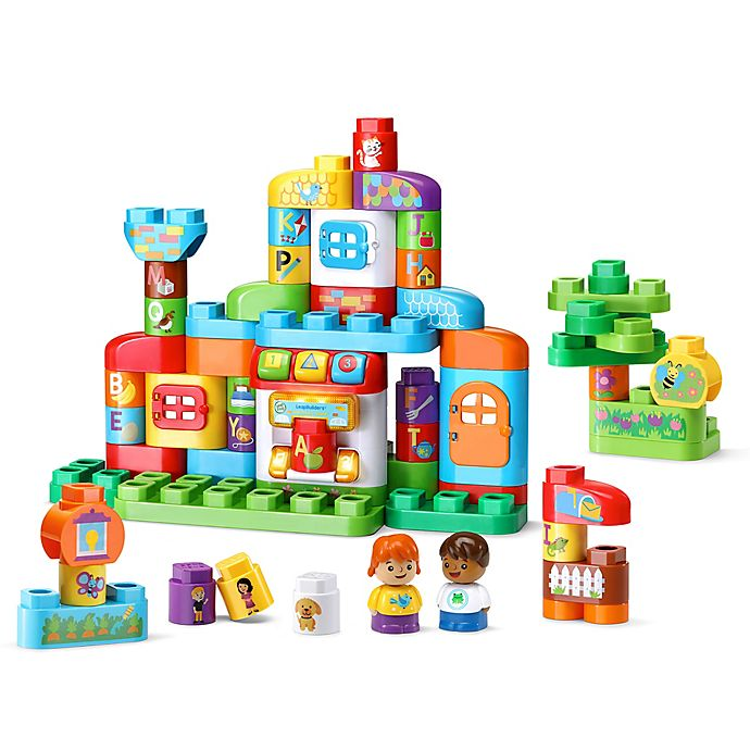 Alternate image 1 for LeapFrog® LeapBuilders ABC Smart House 61-Piece Playset