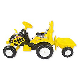 Lil' Rider Ride-On Tractor and Trailer in Yellow