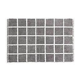 Landon Reversible Bath Rug Set in Grey/White