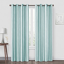 Quinn Stripe Grommet Blackout Window Curtain Panel