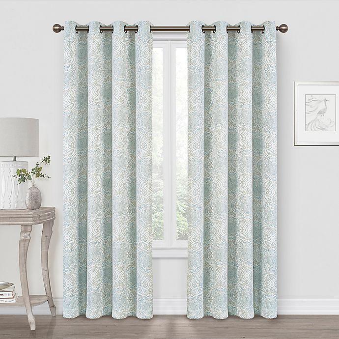 Alternate image 1 for Quinn Medallion Blackout Grommet Window Curtain Panel