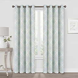 Quinn Medallion 63-Inch Blackout Grommet Window Curtain Panel in Spa