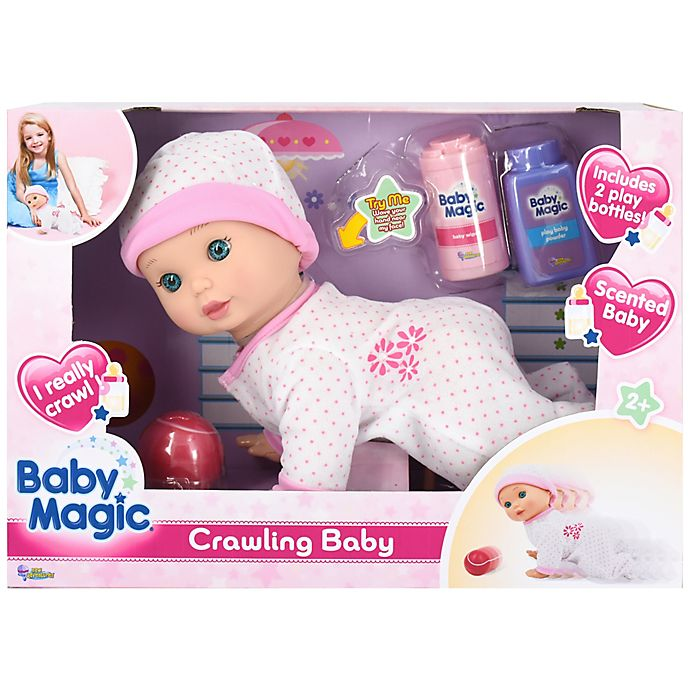 Alternate image 1 for Baby Magic® Crawling Baby Doll 4-Piece Playset