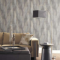 RoomMates® Denonair Geometric Peel & Stick Wallpaper in Grey