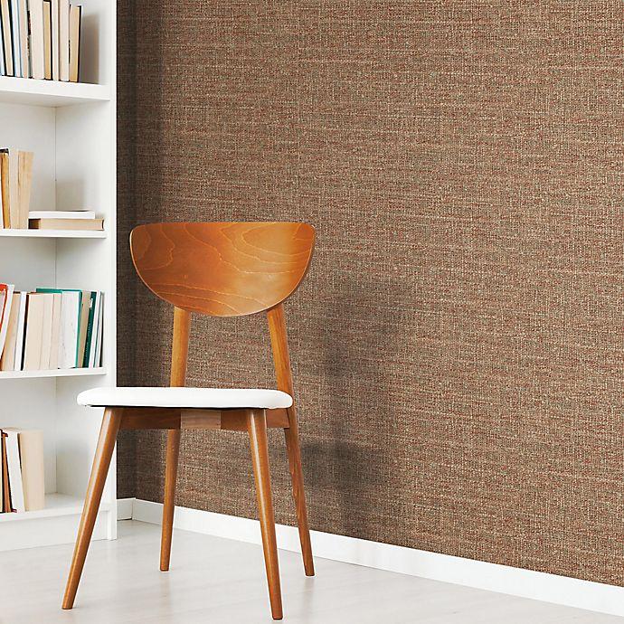Alternate image 1 for RoomMates® Tweed Peel & Stick Wallpaper in Red