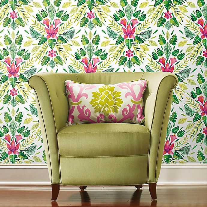 Roommates Cat Coquillette Tropical Peel Stick Wallpaper Bed Bath Beyond