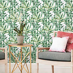 RoomMates® Peel & Stick Lucky Bamboo Wallpaper in Green/White