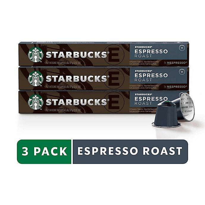 Alternate image 1 for Starbucks® by Nespresso® Espresso Roast 30-Count Capsules