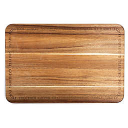 Medici Laser Etched 12-inch x 18-Inch Acacia Wood Cutting and Serving Board with Juice Well